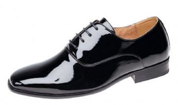 Amado Macario Men's Black Patent Dress/Uniform Shoe